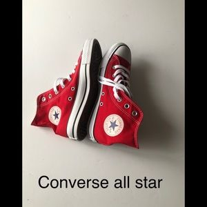 New Converse all star high top sneakers size 7